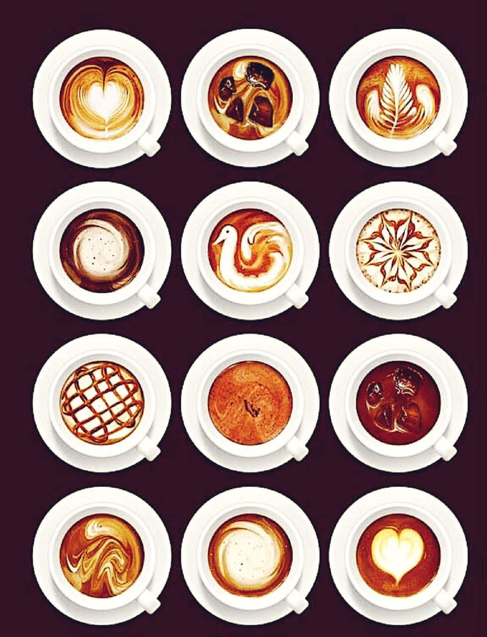 coffee shop, drink, coffee art and aesthetic coffee