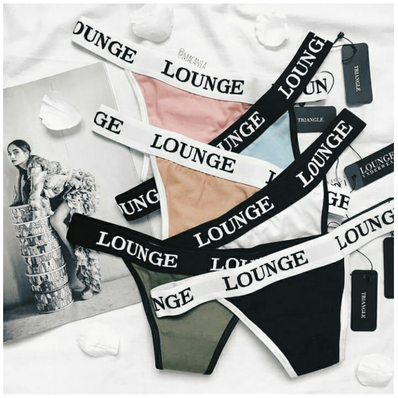 magazine, aesthetic and lounge lingerie