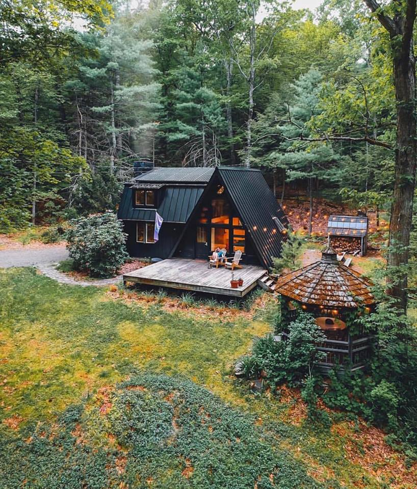 mountain living, home, mountains and house