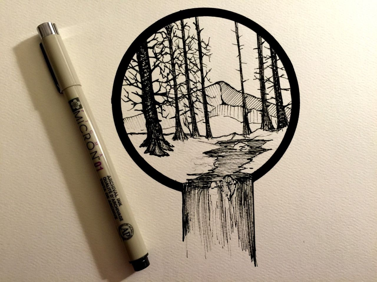 draw, tree, drawing and forest