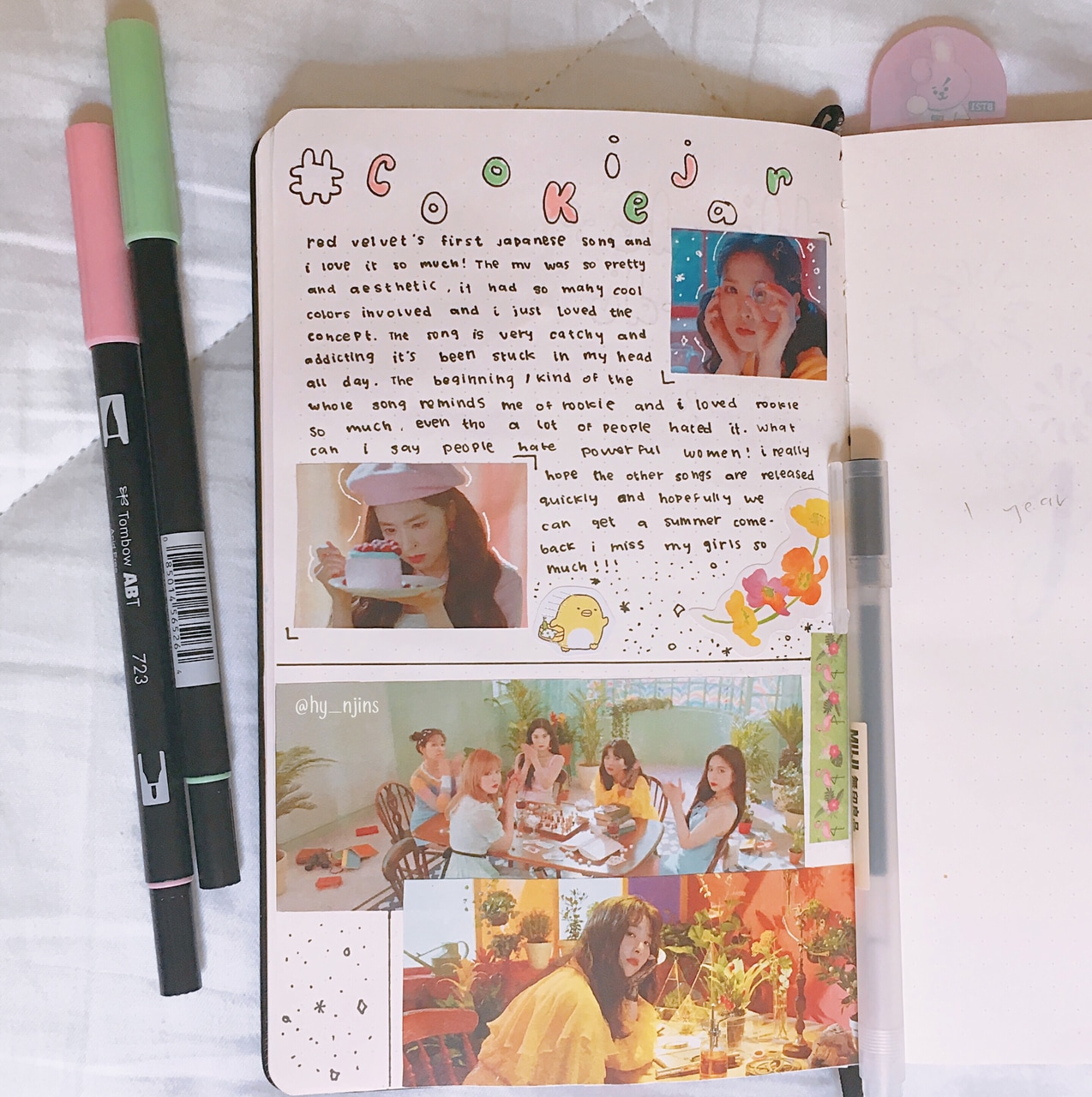 red velvet, kjournal, kpop bujo and study