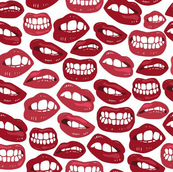 pattern, drawings, white and mouth