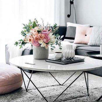 white, pink, black and house