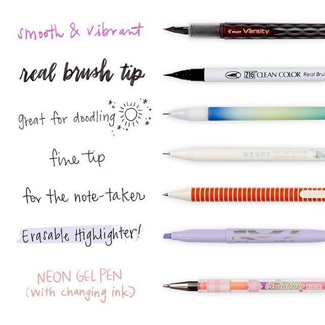 calligraphy, bullet journaling, hand lettering and calligraphy pens