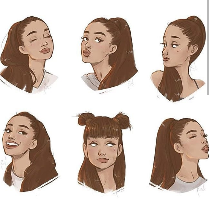 fan art, hair, yours truly and ariana grande hair