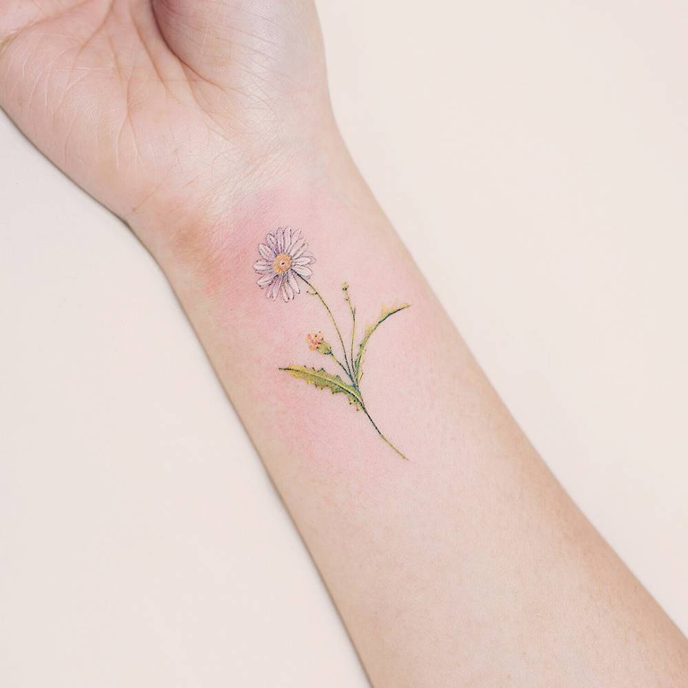 small tattoo, tiny tattoo, flower tattoos and tattoo