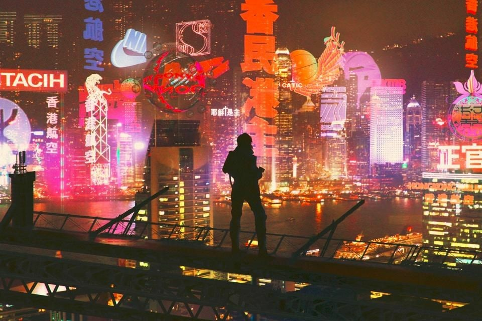 city, japan and 2049