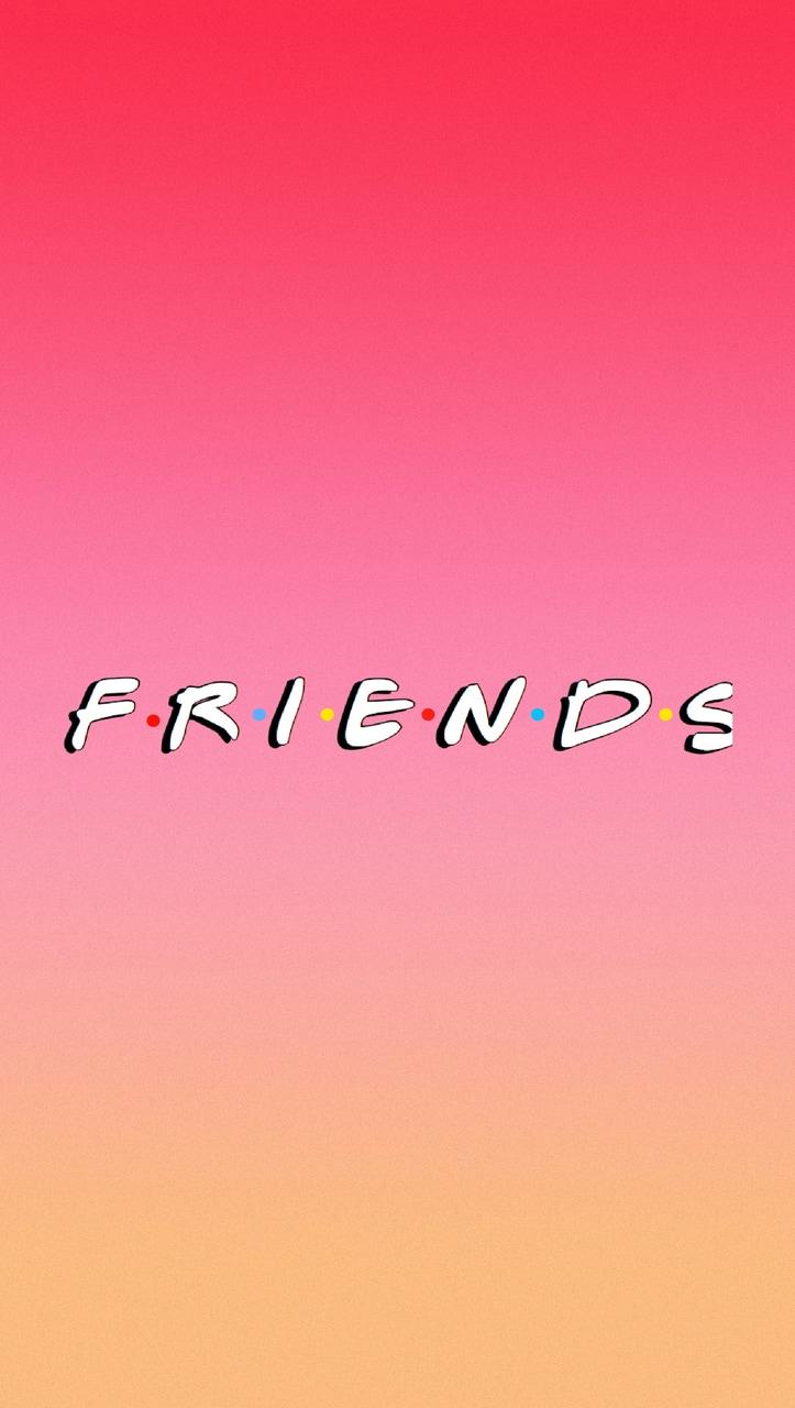 friends iphone wallpaper, aesthetic, pink ombre , image