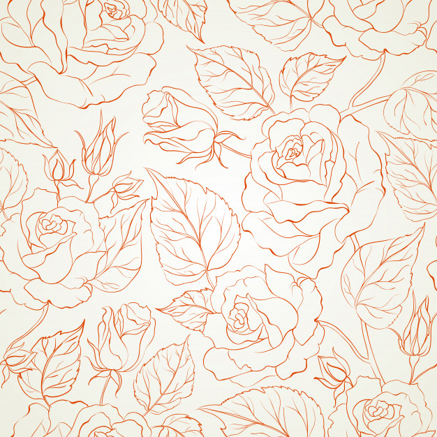 floral, art, flowers and pattern design