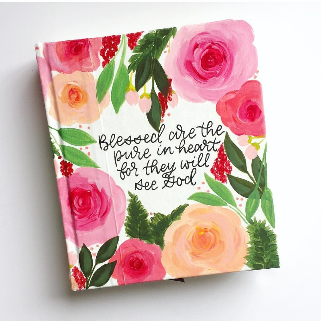 red, book, pink and bible journaling