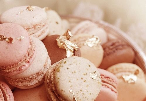 good, rose gold, aesthetic and macarons