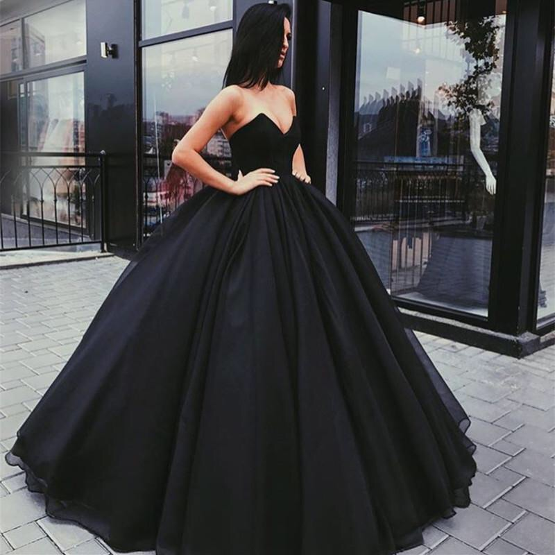 black dress, haute couture, black and ball gown