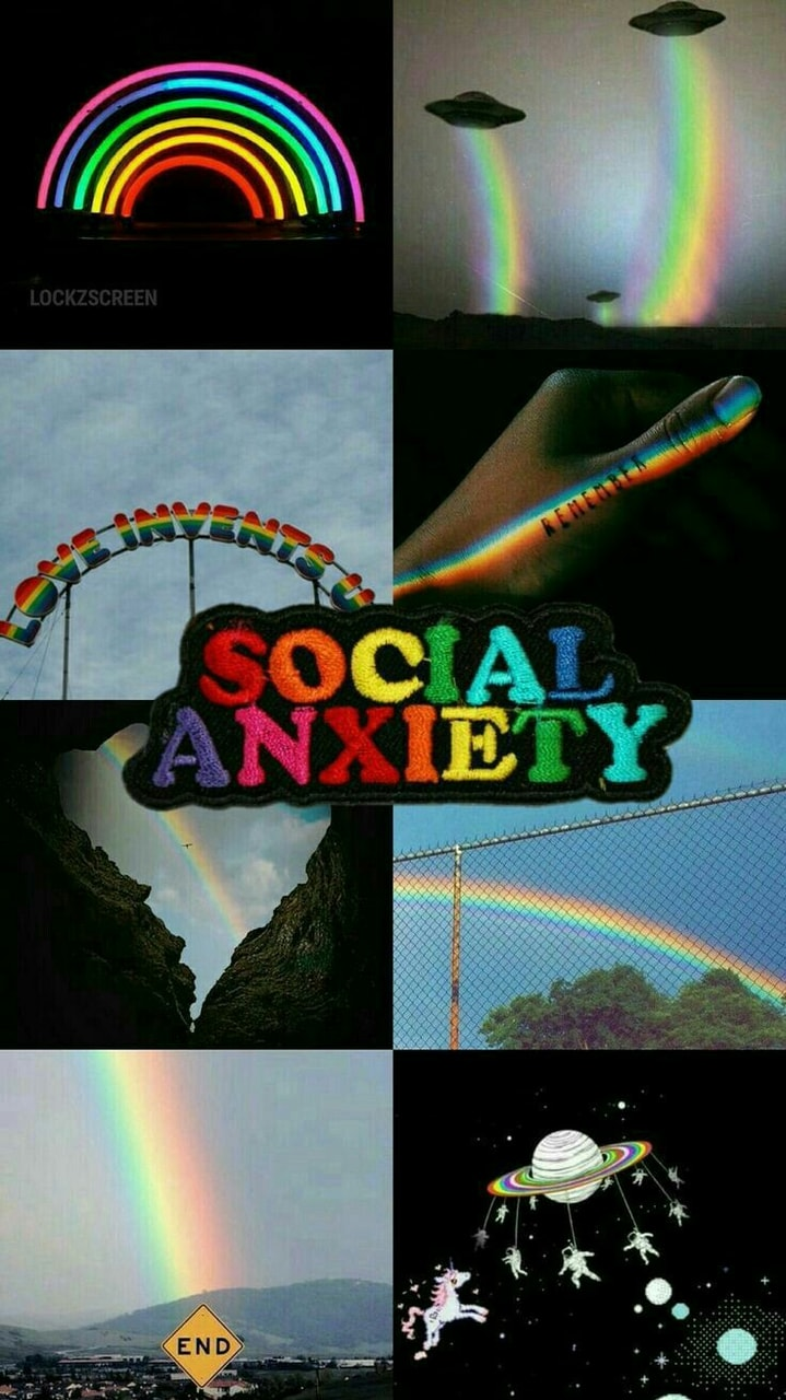 Grunge Wallpaper Collage And Rainbow Image 6086447 On Favim Com