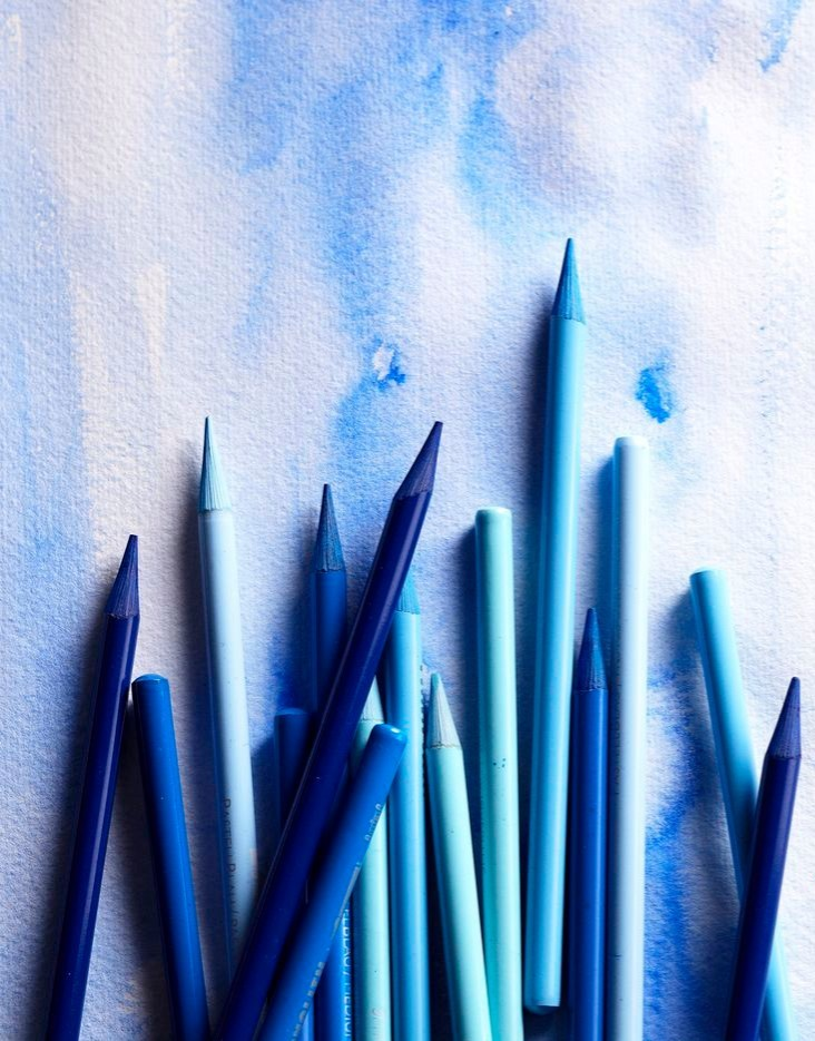 drawing, draw, aesthetics and bright blue aesthetic