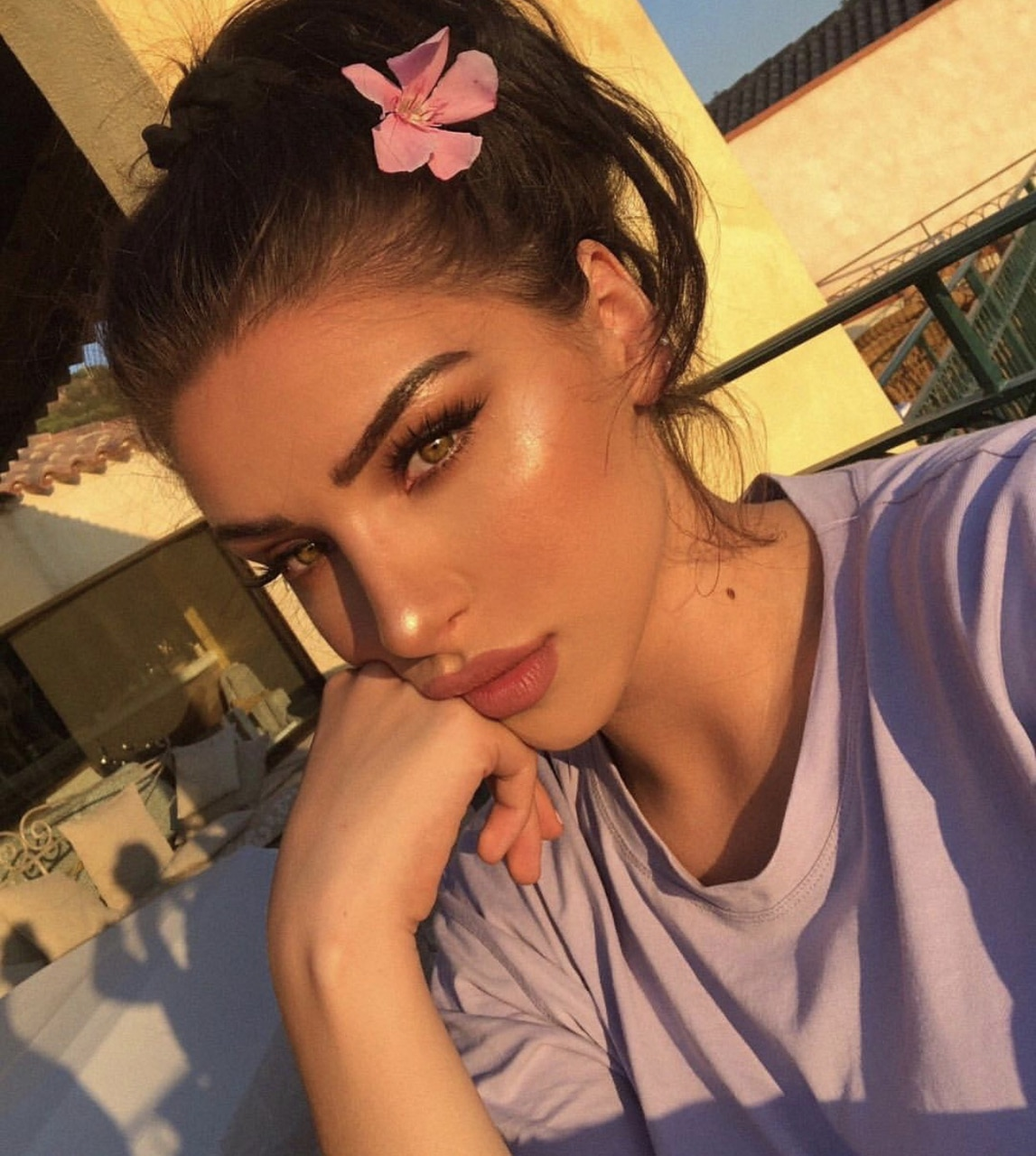 beauty, highlight, black and makeup