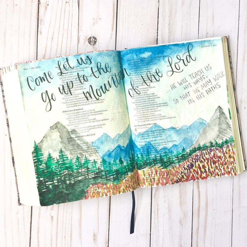 faith, bible journaling, travel and blue