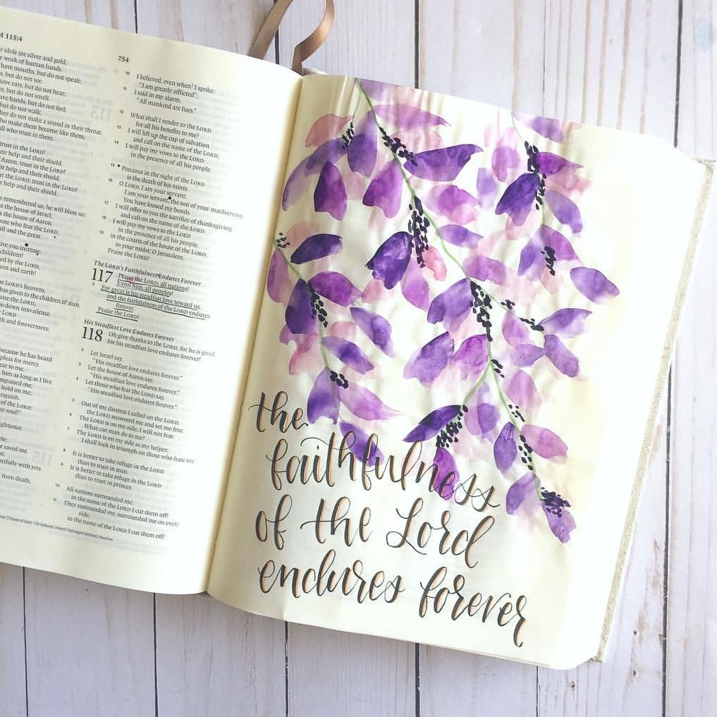 bible journaling, book, purple and summer