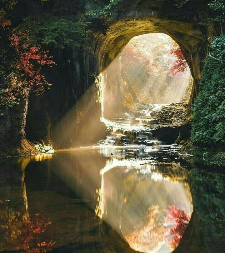 nature, reflection and river