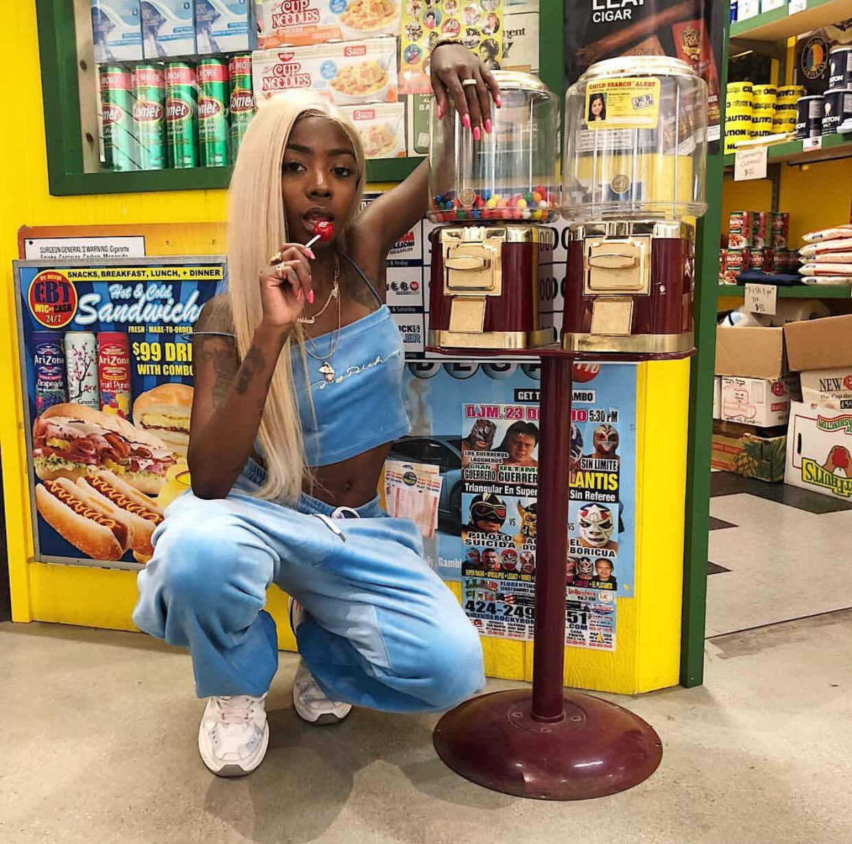 fashion, gas station and style