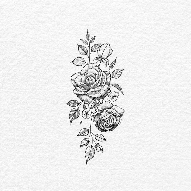 Flower Tatouages Roses And Dessin Image 6142195 On Favim Com