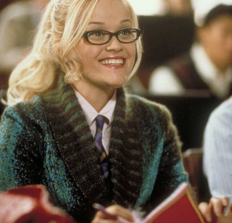 reese witherspoon, glasses, law school and harvard