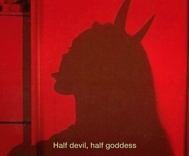 red, girl and evil