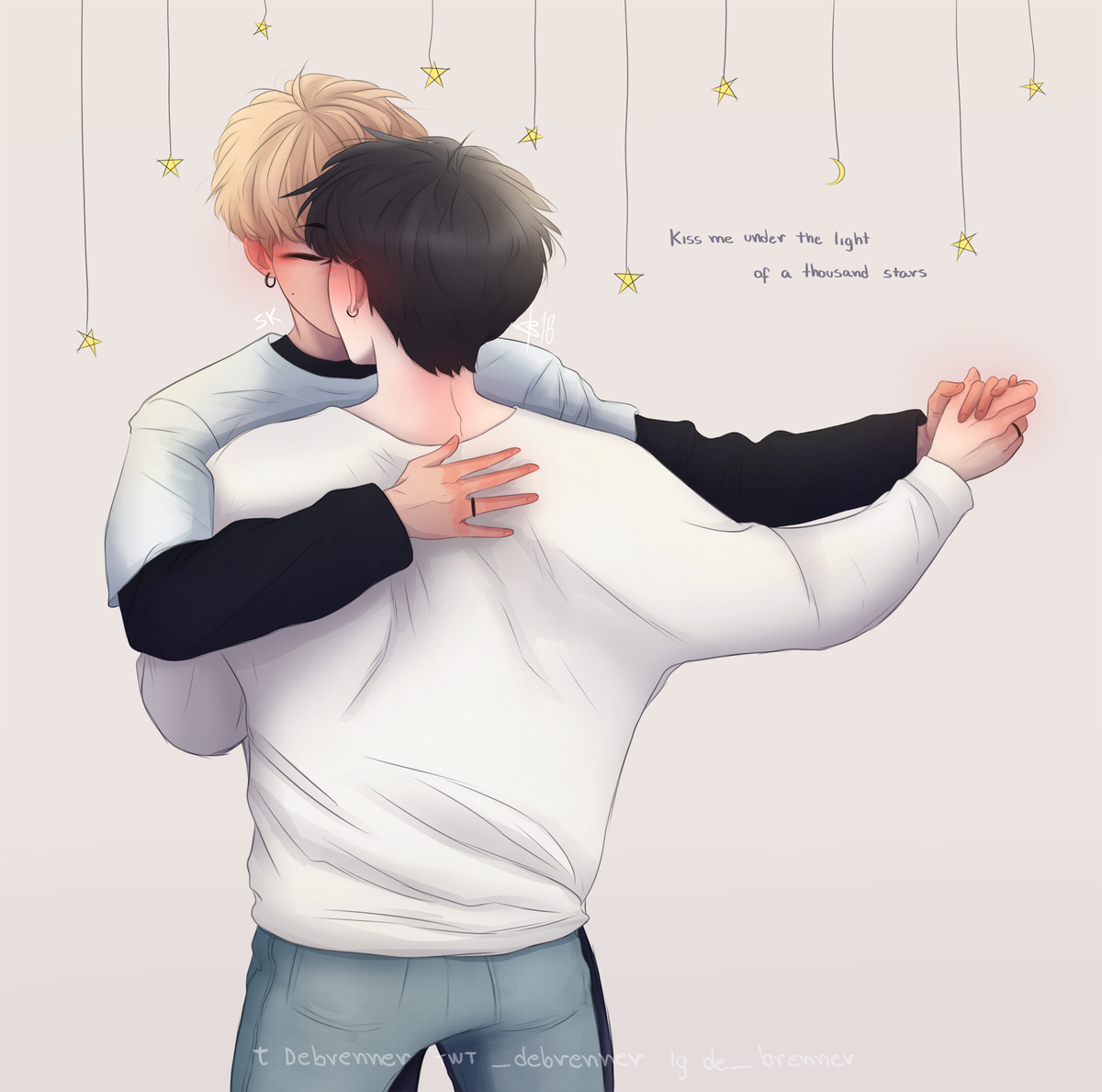 kookgi, yoonkook, nsb and bts fanart
