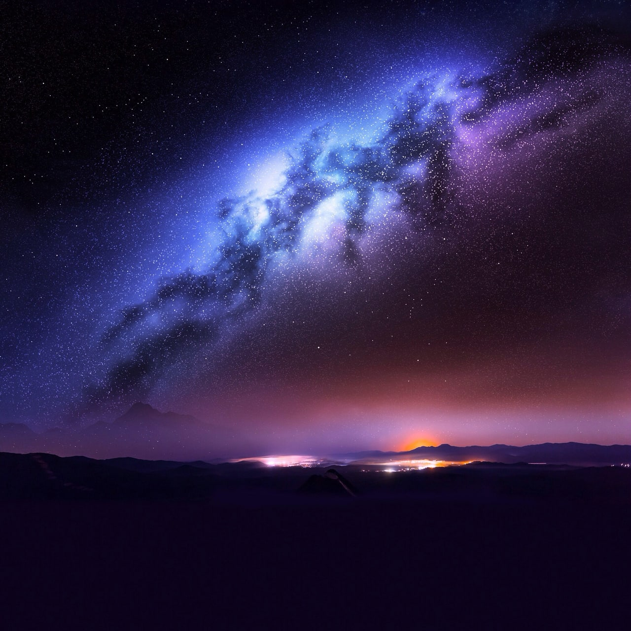 beauty, blue and milky way