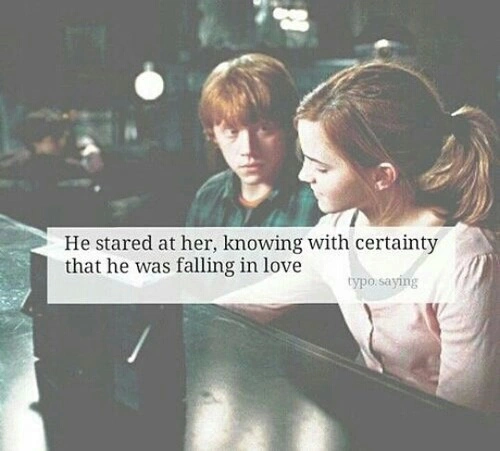 harry potter, love, ron weasly and hermione granger
