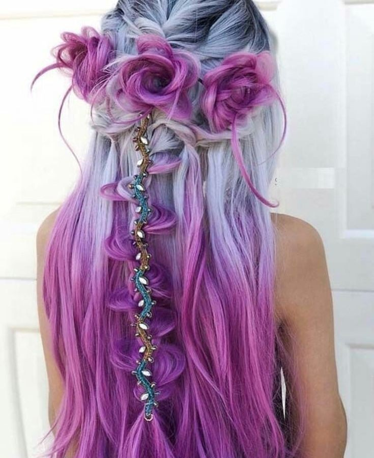 colorful, hairstyles, hair - image #6242808 on Favim.com