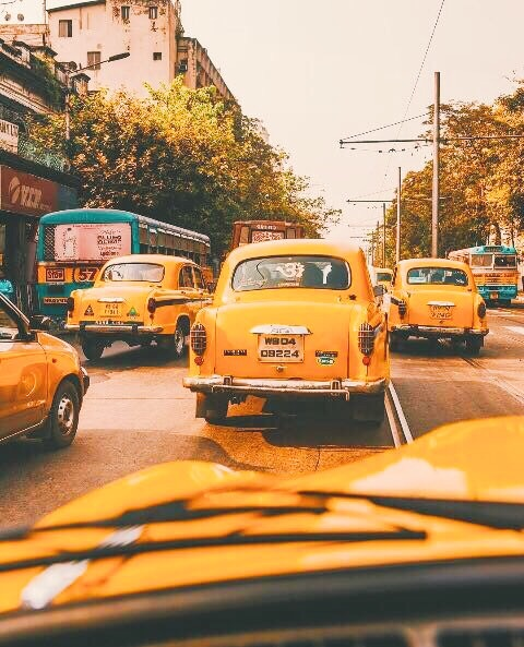 taxis, yellow aesthetic, vintage , image 6253854 on Favim.com