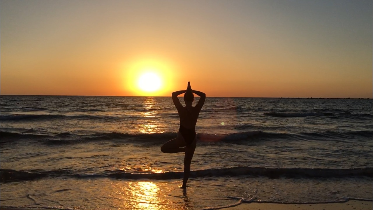 yoga practice, beach, yoga life and workout