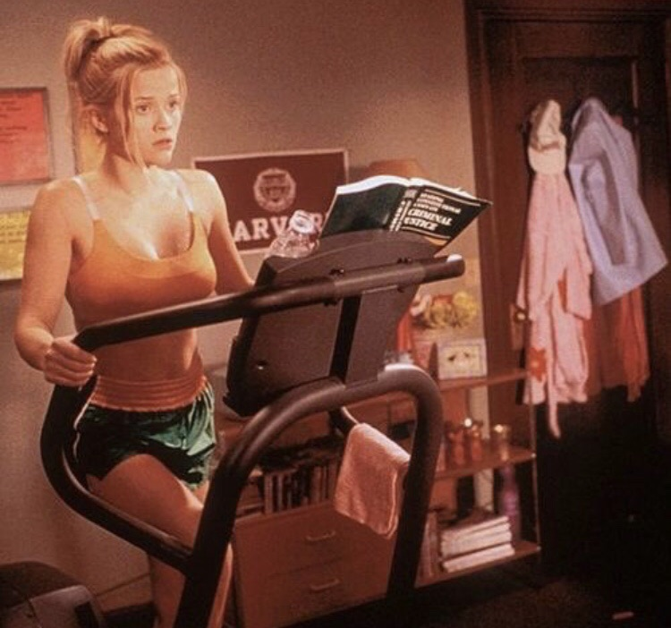 motivation, elle woods, studying and workout