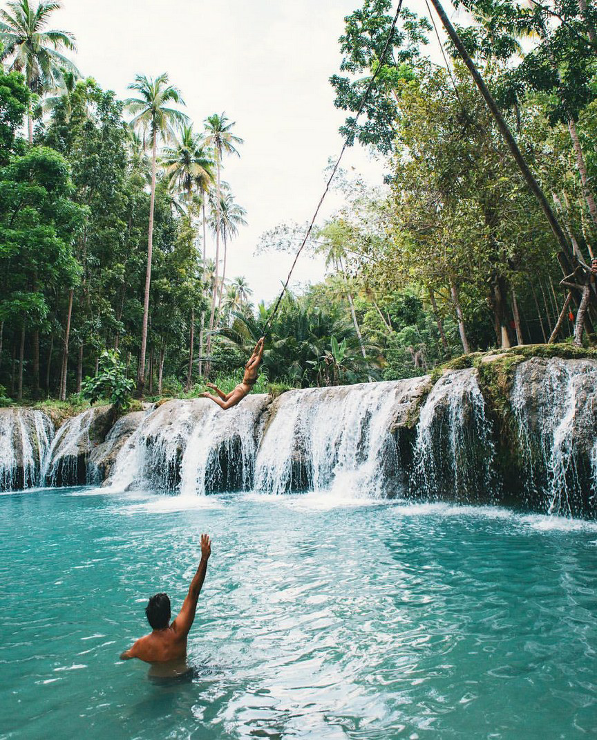 waterfalls, landscape and summer