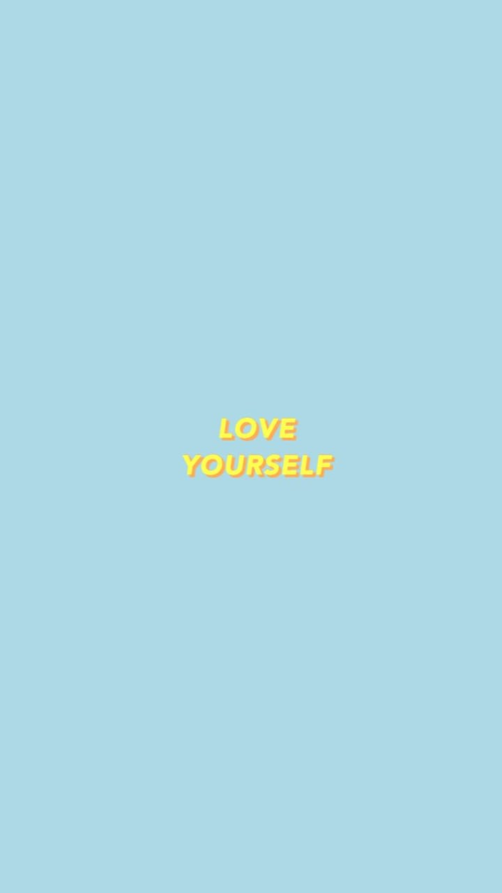 Blue Wallpapers Love Yourself And Cool Image 6277473 On Favim Com