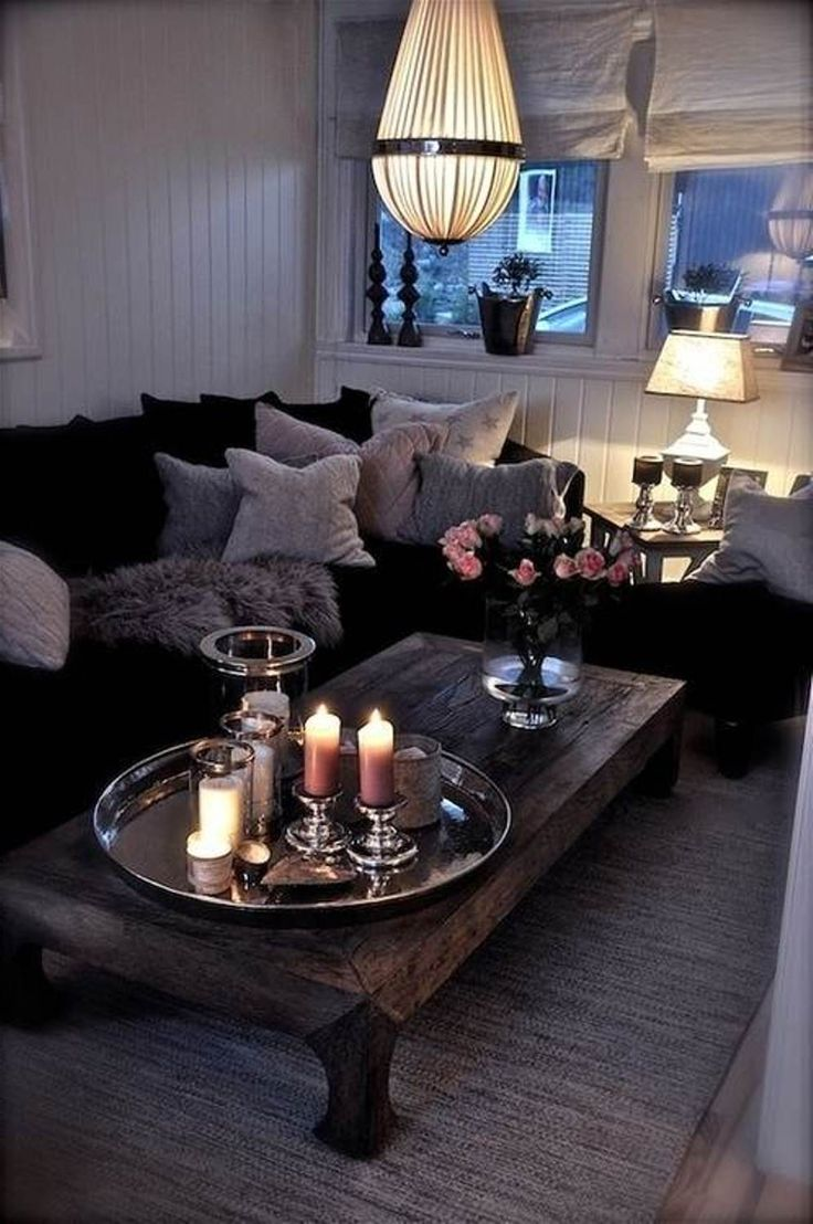 living room design, living room decor, living room and candles