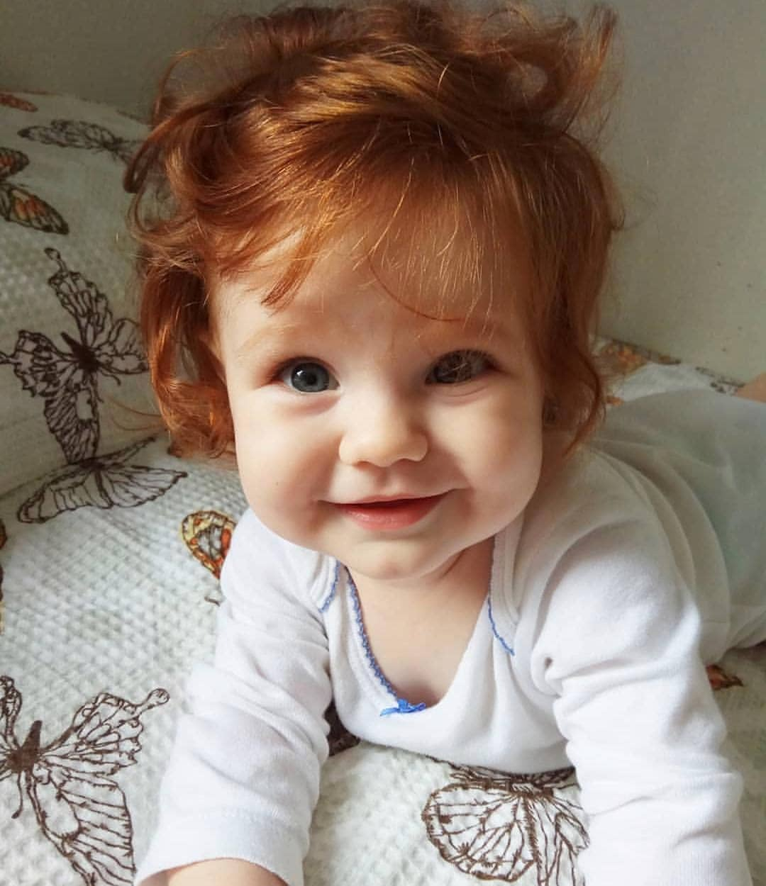 Redhead Pale Skin Green Eyes And Baby Image 6214647 On Favim Com
