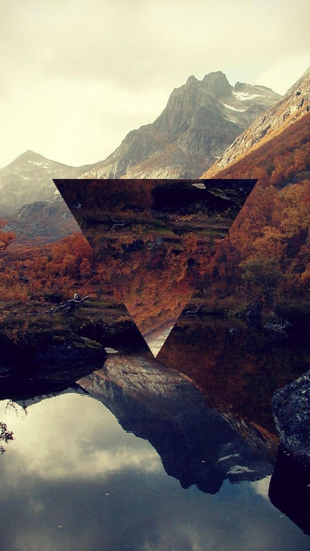 wallpaper, triangle and background