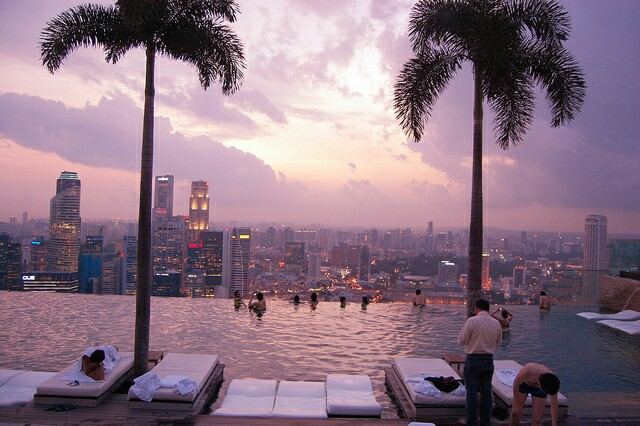 amazing view, wonderful place and pink sky