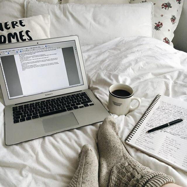 cozy, home and laptop