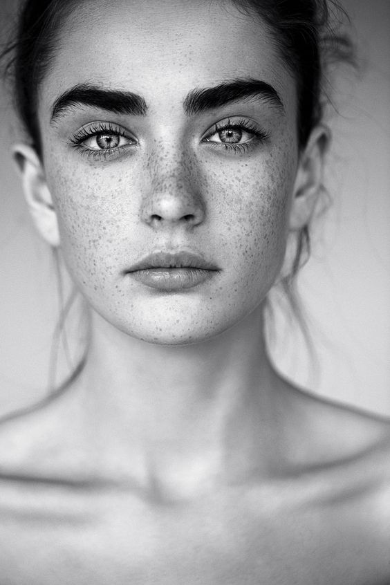 portrait, black and white and beauty