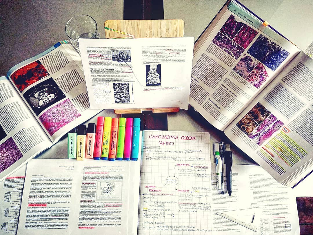 study space, study time, books and study desk