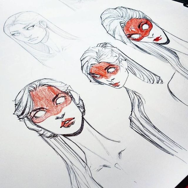 manga, girl drawing, drawing steps and how to draw