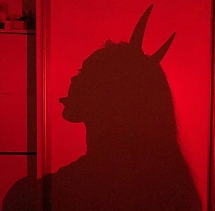 red, horns and tumblr