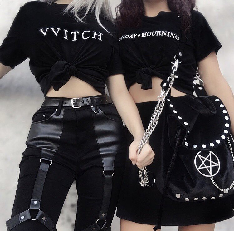 goth fashion, black, alternative and gothic