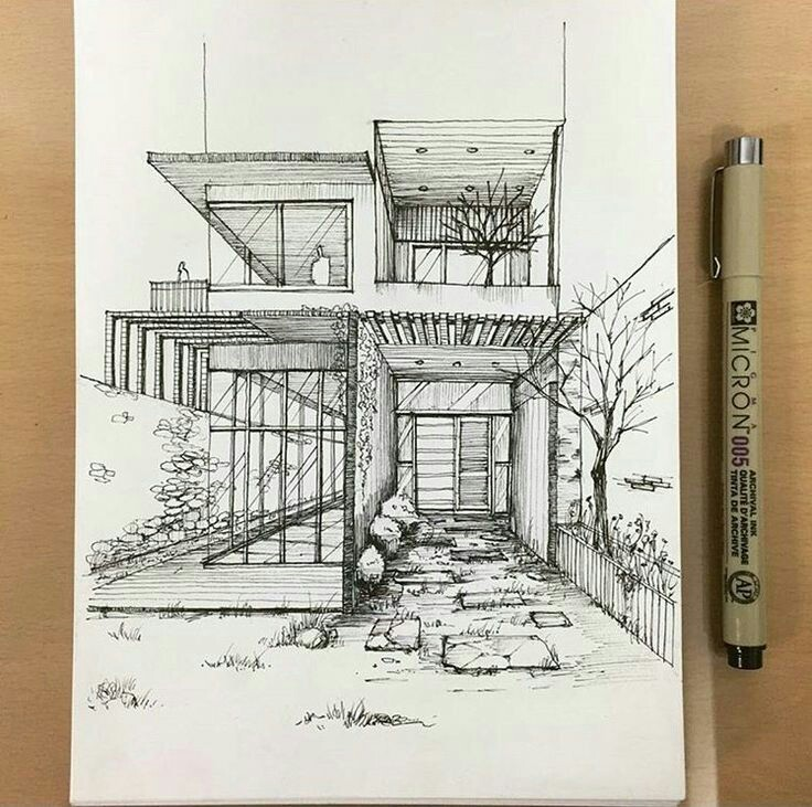art, architect sketch, drawing and draw