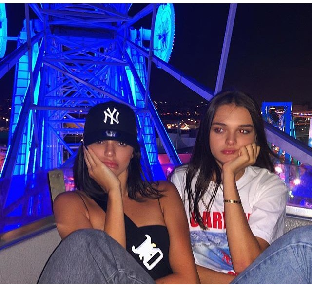 charlotte lawrence, model, kendall jenner and amusement park