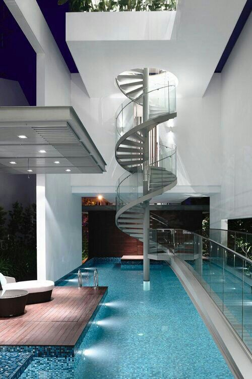 home and swimming pool
