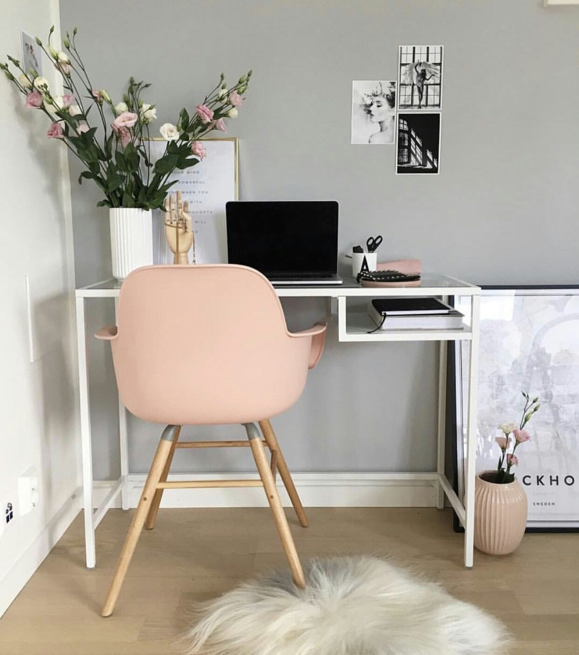 decoration, macbook and desk