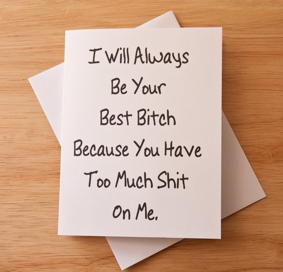 etsy, card for best friend, funny friendship and best bitch
